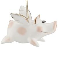 Фарфоровая елочная игрушка Piggy Wingy