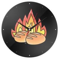 Часы настенные «Булки горят»