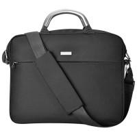 """Конференц-сумка """"Prestige"""" c шильдом; черный; 36х28х5 см; микрофибра"""