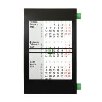 Календарь настольный на 2 года; черный с зеленым; 18х11 см; пластик; тампопечать