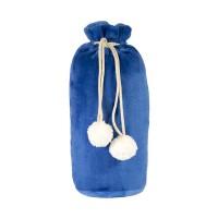 Плед GRADIENT в подарочном мешке; синий; 130х150 см; фланель 280 гр/м2