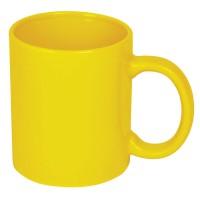 Кружка; желтый; 300 мл; керамика; деколь