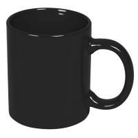 Кружка; черный; 320 мл; тонкая керамика; деколь