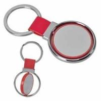 "Брелок ""Круг вращения "" красный; 8х4 см; металл"