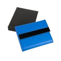 Футляр для карт; 20 кармашков; синий; 10