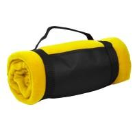 """Плед """"Color""""; желтый; 130х150 см; флис 220 гр/м2; шелкография"""