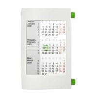 Календарь настольный на 2 года; белый с зеленым; 18х11 см; пластик; тампопечать
