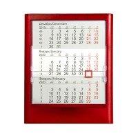 Календарь настольный на 2 года ; прозрачно-красный; 12
