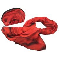 Набор «Роза»: косметичка и шарф