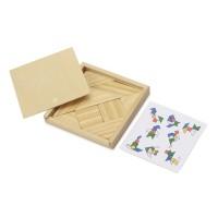 Деревянная головоломка в коробке Tangram