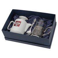 Чайный набор с подстаканником и фарфоровым чайником «ЭГОИСТ-М»