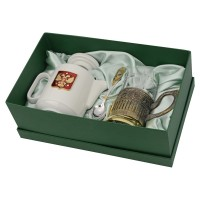 Чайный набор с подстаканником и фарфоровым чайником «ЭГОИСТ-Л»