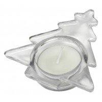 Подсвечник стеклянный со свечой