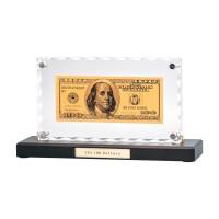 """Банкнота 100 USD"" в стекле"