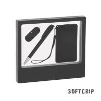 """Подарочный набор """"Камень"""" с покрытием soft grip на 3 предмета"""